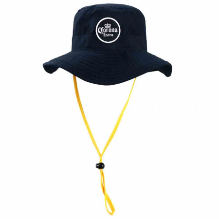 Corona Extra Label Patch Neck Drape Sun Hat