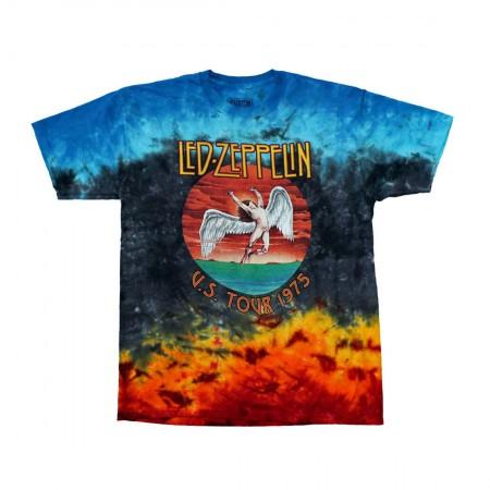 Led Zeppelin Icarus 1975 Tie Dye T-Shirt