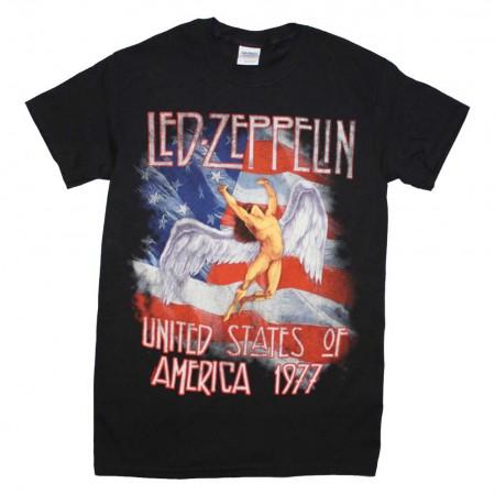 Led Zeppelin Men's America 1977 T-Shirt