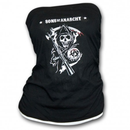 Sons Of Anarchy Reaper Black Juniors Tube Top