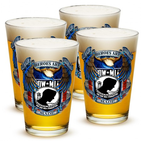 Four Pack of POW/MIA Beer Drinking Pints