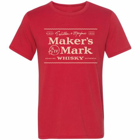 Maker's Mark Whiskey Signature Label T-Shirt
