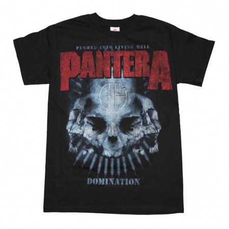 Pantera Domination Distressed Print T-Shirt