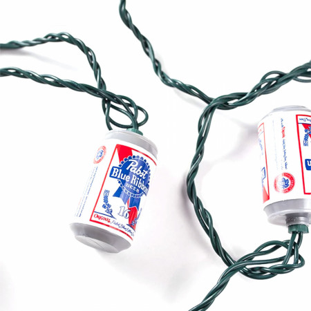 Pabst Blue Ribbon Beer Can String Lights