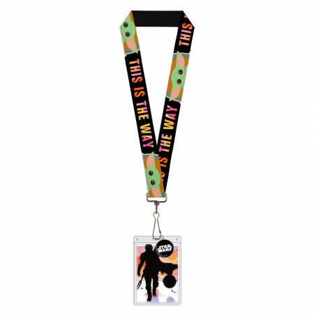 "Mandalorian This Is The Way ""The Child"" Badge Holder Charm Lanyard"