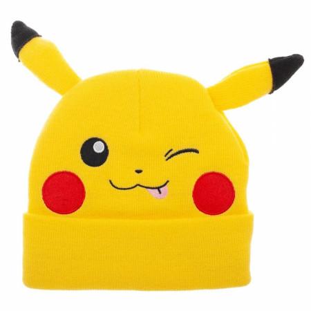 Pikachu Yellow Bigface Beanie