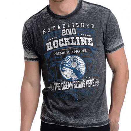 Rockline Premium Men's Dream Burnout T-Shirt