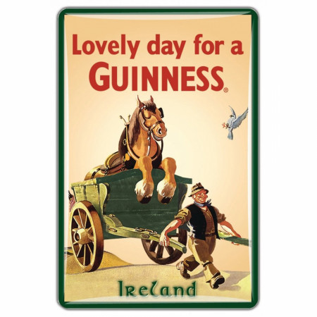 Guinness Beer Horse Before the Cart Lovely Day Magnet
