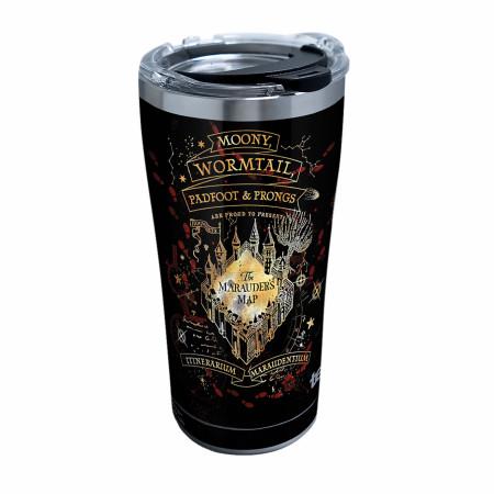 Harry Potter Black Marauder's Map 20 Ounce Tervis® Tumbler Travel Mug