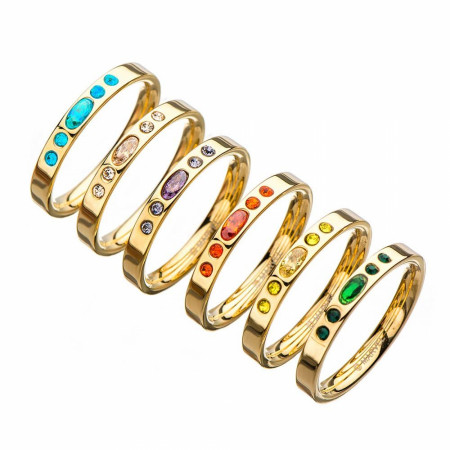 Thanos Infinity Gauntlet Ring Set