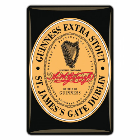 Guinness Extra Stout Heritage Label Magnet