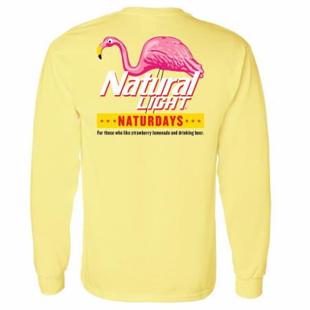 Natural Light Naturdays Flamingo Yellow Long Sleeve Shirt